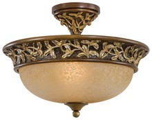 Minka-Lavery 1568-477 - 3 Light Semi Flush Mount