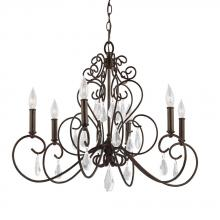 Feiss F3042/6BNB - 6 - Light Chandelier